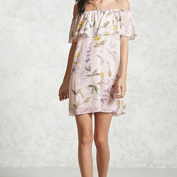 Floral Off-the-Shoulder Dress - Women - Dresses - 2000092517 - Forever 21 Canada English