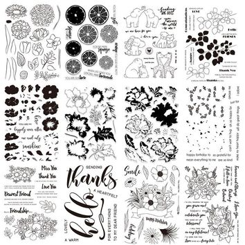 23 Styles Flowers Animals Lemon Words Clear Stamps Transparent Stamp for DIY Scrapbooking Decorative Cards Paper Crafts New 2018