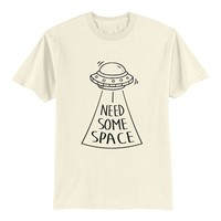 Unisex Adult T Shirt - I Need Some Space - Anti Social - Ufo Sticker