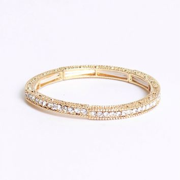 Promise You Rhinestone Bracelet Gold