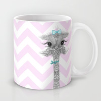 *** CUTE & SASSY *** Pink Chevron Mug by Monika Strigel for your HOT CHOCOLATE * COFFEE * TEA * Hot PUNSH * GLOGG ***