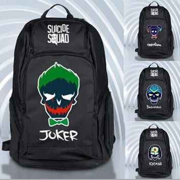 Joker Suicide Squad Backpack School Travel Book Bag Halloween Cospaly Xmas Gift