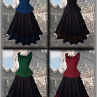 Medival Dress Skirt + Blouse Baroque Larp Reenactment Gothic