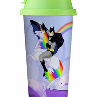 Batman Riding Robot Unicorn Double wall mug, Custom Double wall mug, Custom Double wall cup