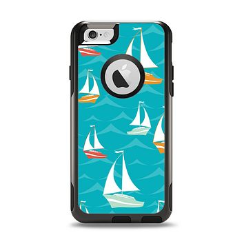 The Vector Colored Sailboats Apple iPhone 6 Otterbox Commuter Case Skin Set