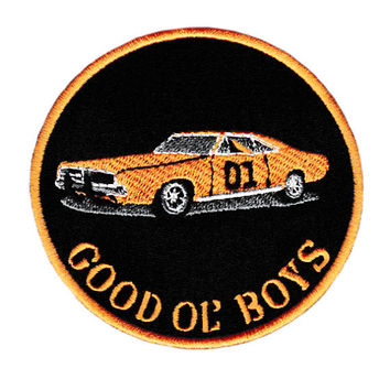 "Dukes of Hazzard 01 ""Good Ol' Boys"" General Lee Patch Badge Trucker Cap Hat Shirt 9cm"