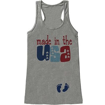 Custom Party Shop Women's Made in the USA 4th of July Grey Tank Top