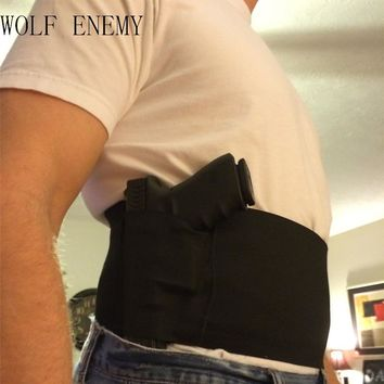 Concealed Carry Belly Band Gun Pistol Holster + 2 Mag Pouches WAIST For Colt 1911compact / P226 /Beretta