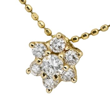 14K Gold CZ Star of David Necklace by Neta Wolpe, Jewelry Size: 0.23