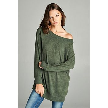 Toasty Olive Tunic