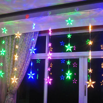 Christmas Star String Lights LED Lamps Colorful Holiday Garden Wedding Party Home Christmas Decoration R044