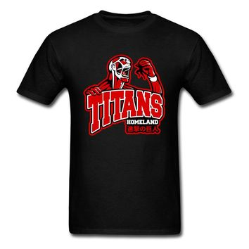 Cool Attack on Titan Awesome Cool Men T-Shirt  Giant Monster Anime Print Mens Black T Shirt Cotton Tops & Tees  AT_90_11