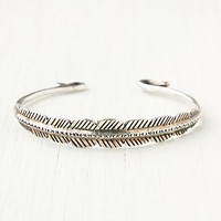 Free People Feather Etched Skinny Cuff