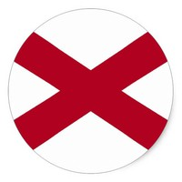 Sticker with Flag of Alabama