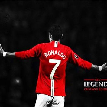 Custom Canvas Prints Cristiano Ronaldo Poster Red Legends Posters Ronaldo Wall Stickers CR7 Wallpaper Football Soccer #2146#