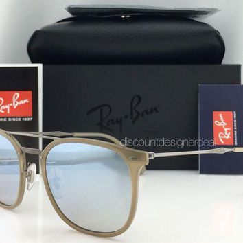 Kalete Ray-Ban RB4286 New LiteRay Model Sunglasses 6166/B8 Beige Silver Mirror 55mm