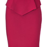 STYLEBOP.com | Raspberry Peplum Wool Skirt by MATTHEW WILLIAMSON | the latest trends from the capitals of the world
