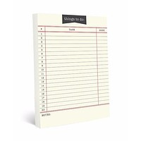 Bibliophile Library Card Large Notepad