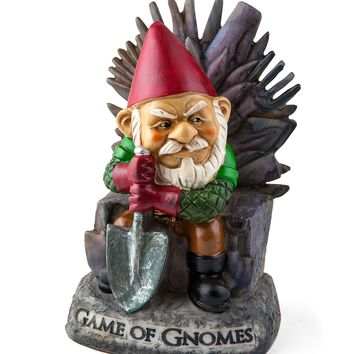"BigMouth Inc ""Game of Gnomes"" Garden Gnome Statue, Hand Painted Ceramic Game of Thrones Sculpture for Garden or Desk, 9.5""Tall"