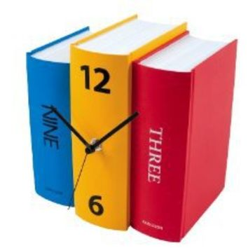 Amazon.com: Karlsson Table Clock, Colorful Faux Books: Home & Kitchen