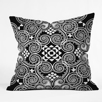 Budi Kwan Decographic Black Throw Pillow