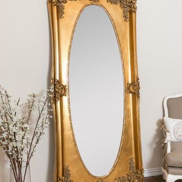 Gold Antique Leaner Full Length Mirror