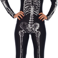 adult costume: skeleton unitard x-ray | medium
