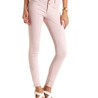 "Refuge ""Hi-Waist Super Skinny"" Colored Jeans - Deep Blush"