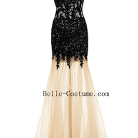Black Lace Prom Dresses, Sweetheart Lace Prom Dresses, Black Lace Evening Dresses