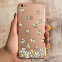360° Full Protection Daisy Flower Clear iPhone Case