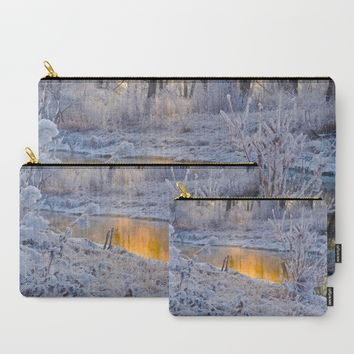It's Gold Outside Carry-All Pouch by Mixed Imagery