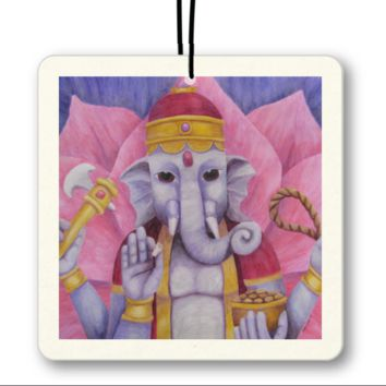 Ganesh - Air Freshener of Watercolor Pencil Fine Art