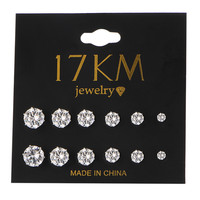 17KM  Crystal Stud Earrings