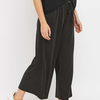 Light Before Dark Black Cupro Culottes - Urban Outfitters
