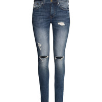 H&M - Skinny High Jeans - Denim blue - Ladies
