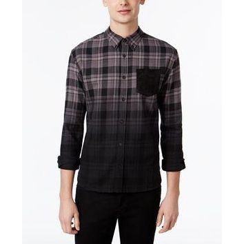 WHT SPACE by Shaun White Men's Ombre Plaid Flannel Shirt
