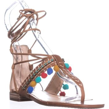 Vince Camuto Balisa Flat Sandals, Whiskey Barrel, 5.5 US / 35.5 EU