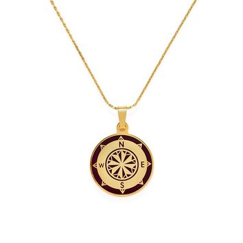 Cabernet Compass Expandable Necklace