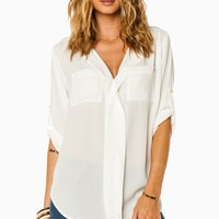 ShopSosie Style : Ansel Blouse in White