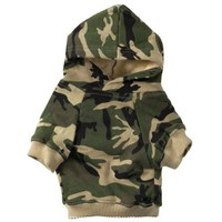 Casual Canine Cotton Camo Dog Hoodie, Small, Green:Amazon:Pet Supplies