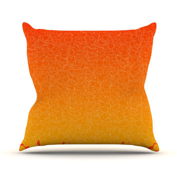 "Frederic Levy-Hadida ""Bubbling Red"" Throw Pillow"