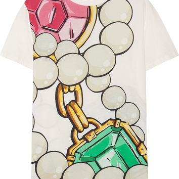 Boutique Moschino - Oversized printed cotton-jersey T-shirt