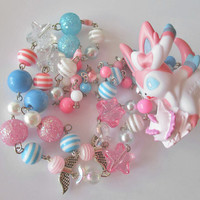 Pokémon Necklace - SYLVEON - BANDAI Attack Figure Necklace - Decora, Kawaii, Pastel Goth