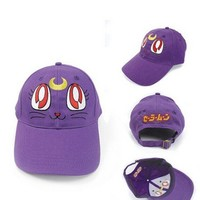 Aluckyday Lovelysailor Moon Purple Cat Baseball Cap Hat Cosplay,birthday Gift