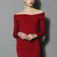 Own the Charm Wrap Dress in Red