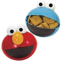 Sesame Street Elmo And Cookie Monster Snack To Go Spheres (Set of 2)