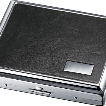 Visol Evening Black Leather Double Sided Cigarette Case