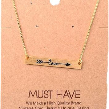 Must Have-Love Pendant Necklace, Gold