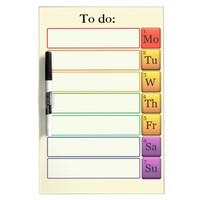 Periodic table weekly to do list