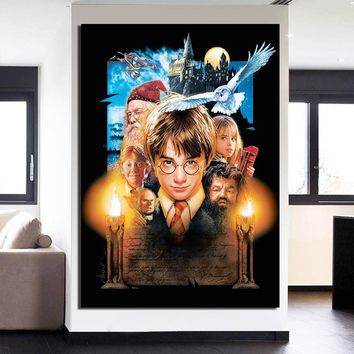 Harry Potter Collage Wall Art 1 Piece Canvas